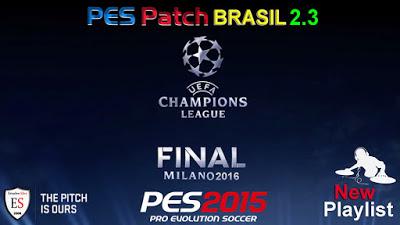 Patch PES 2015 Terbaru dari PES Brasil Patch 2.3