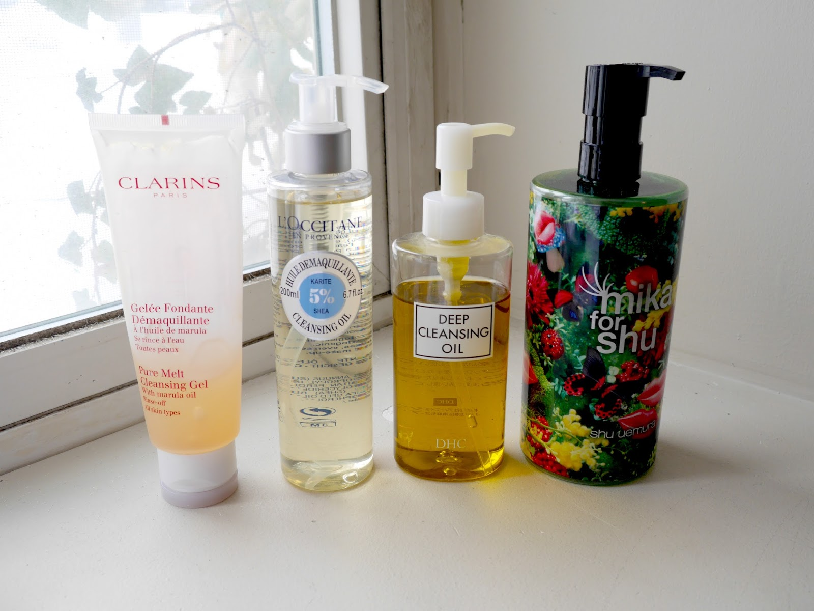 clarins pure melt cleansing gel l'occitane dhc mika for shu anti-oxidant