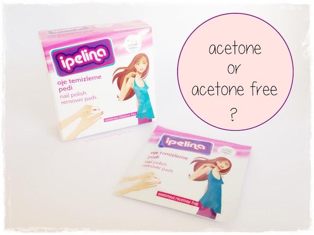 İpelina Acetone Free Nail Polish Remover Pads vs Benri Acetone