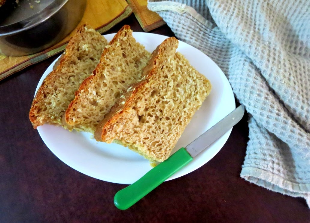 no knead light wheat loaf | how to make homemade bread