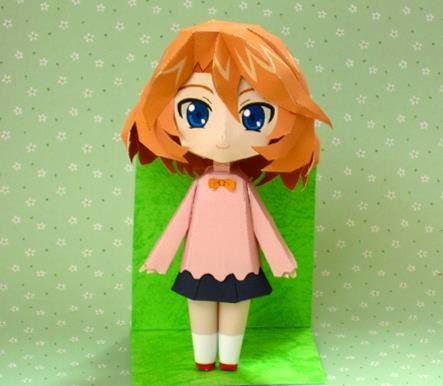 vanguard emi sendou paper doll in chibi style by kataho