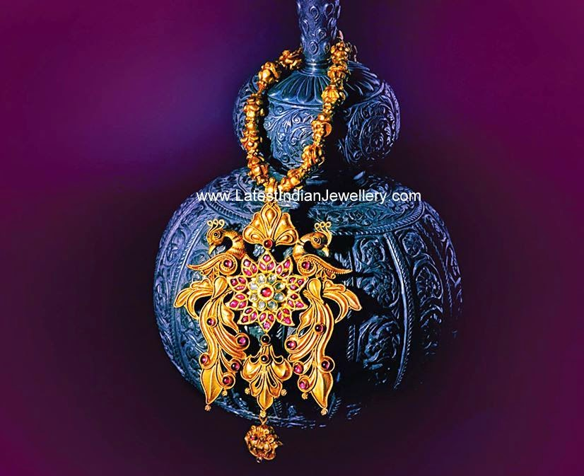 Antique Gold Balls Peacock Haram
