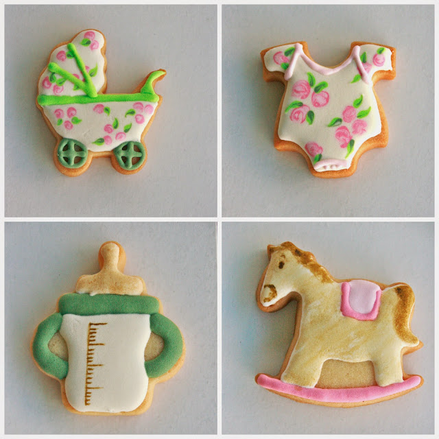 Galletas babyshower vintage