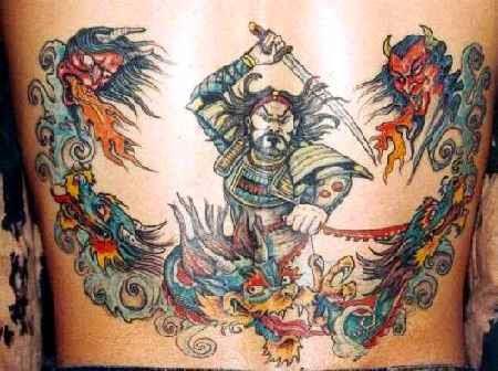 Ninja samurai tattoo