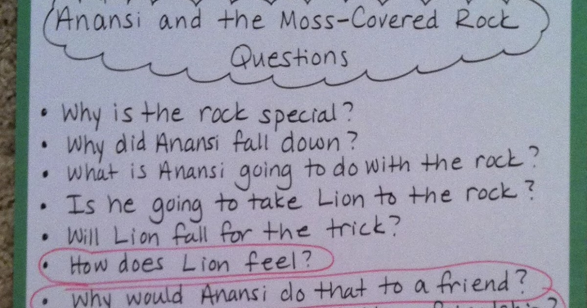 anansi and the moss covered rock lesson
