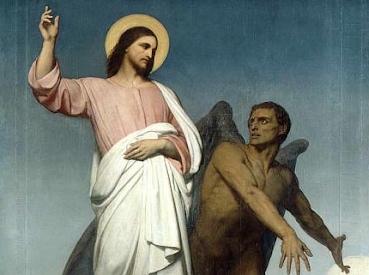 Jesus being tempted