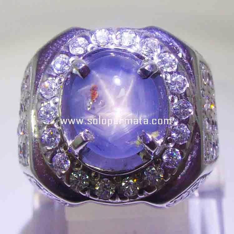Batu Permata Blue Sapphire Ceylon Star - 20B01