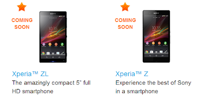 Coming Soon Xperia Z & Xperia ZL in India