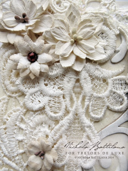Altered canvas by Nichola Battilana for Tresors de Luxe detail