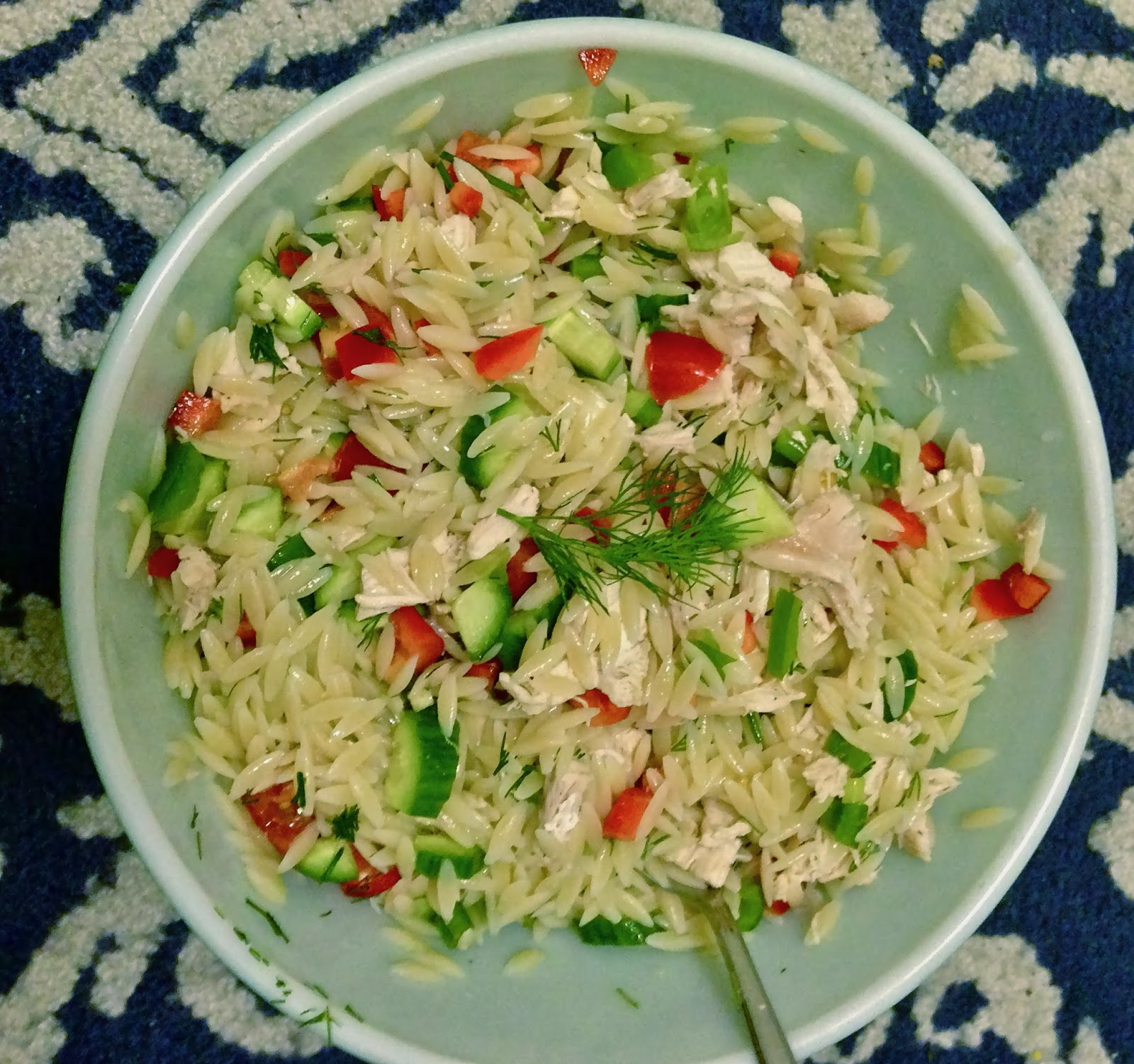 Simple Cooking in a Complex City: Healthy Chicken Orzo Salad