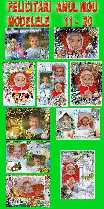Felicitari  Anul  Nou - Modelele  11 - 20
