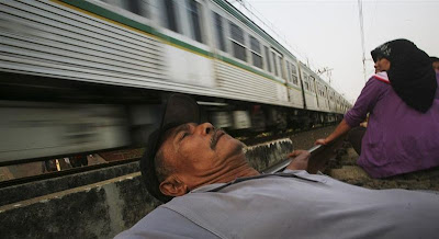 Railway Therapy Practiced in Indonesia Seen On www.coolpicturegallery.us