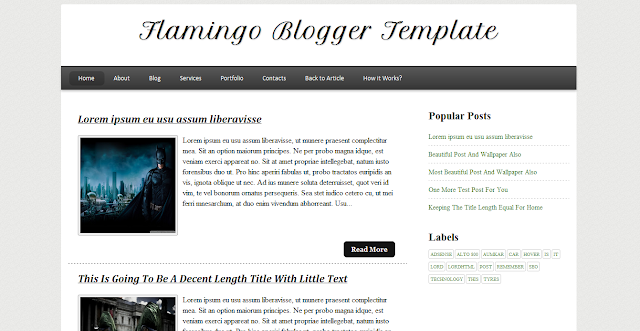 Flamingo Simple And Clean Blogger Template