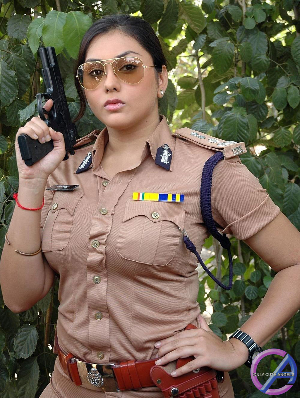South Actress Namitha In Police Dress ~ Only Cute Angels