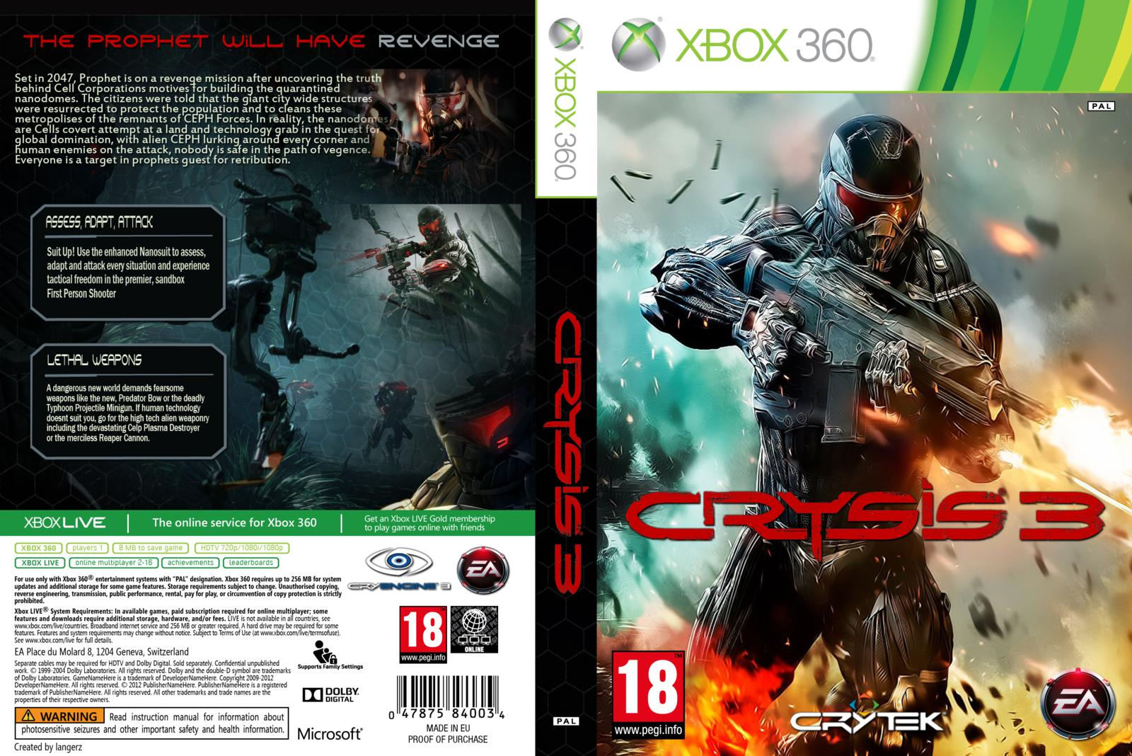 Crysis 3 Xbox 360 Gamenivel