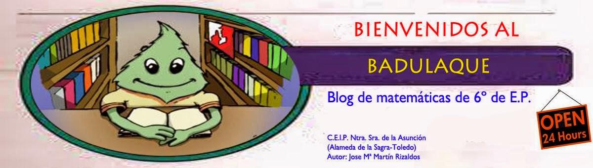 MATEMÁTICAS DE 6º E.P.