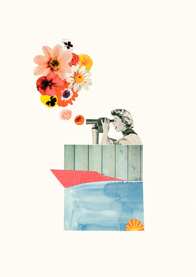 'in bloom' collage by laura redburn