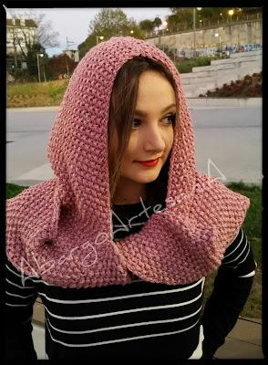 Capucha Caperucita con bufanda