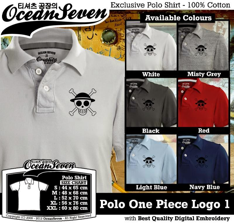 Kaos Polo One Piece Logo 1