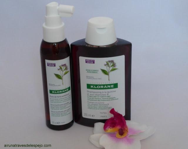 tratamiento anticaida quinina Klorane