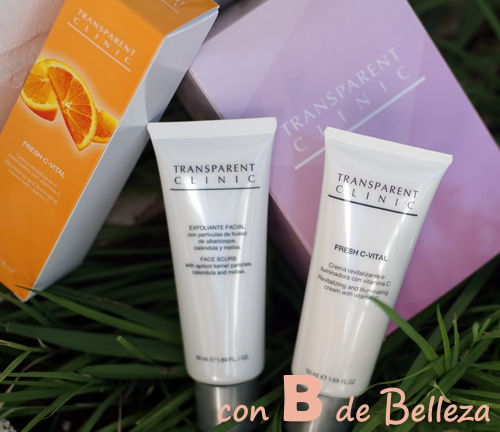 Transparent clinic exfoliante y Fresh CVital