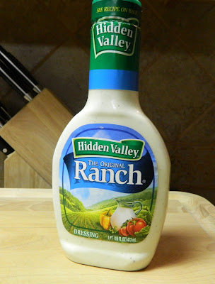 Use your favorite bottled Ranch dressing for dipping the pork chops.