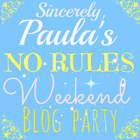 Blog Hop Button for Paula's No Rules Weekend Blog Party