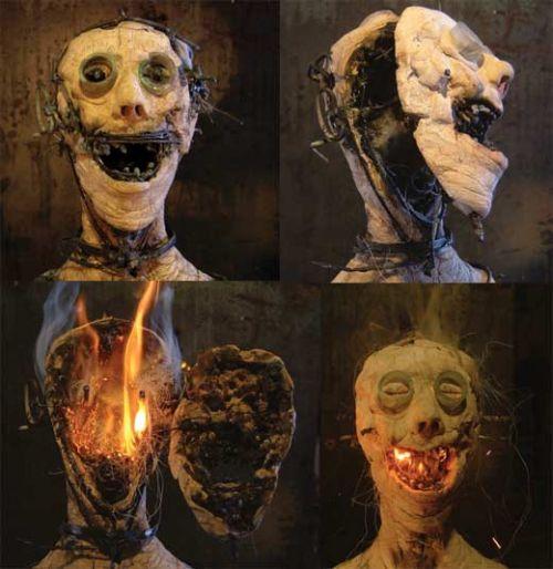 Olivier De Sagazan esculturas macabras perturbadoras pesadelos