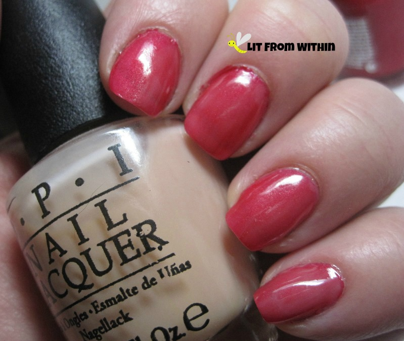 Revlon Orient Express with a layer of OPI Glints Of Glinda