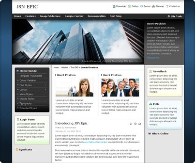 Free JSN Epic Version 4.3.0 Joomla 1.7/2.5 & 1.5 Template