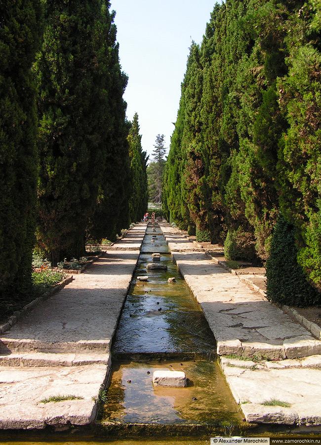 Кипарисовая аллея с источником