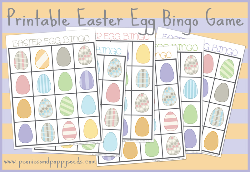 photo about Free Printable Easter Bingo Cards identified as Peonies and Poppyseeds: Easter Egg Bingo Absolutely free Printable Match