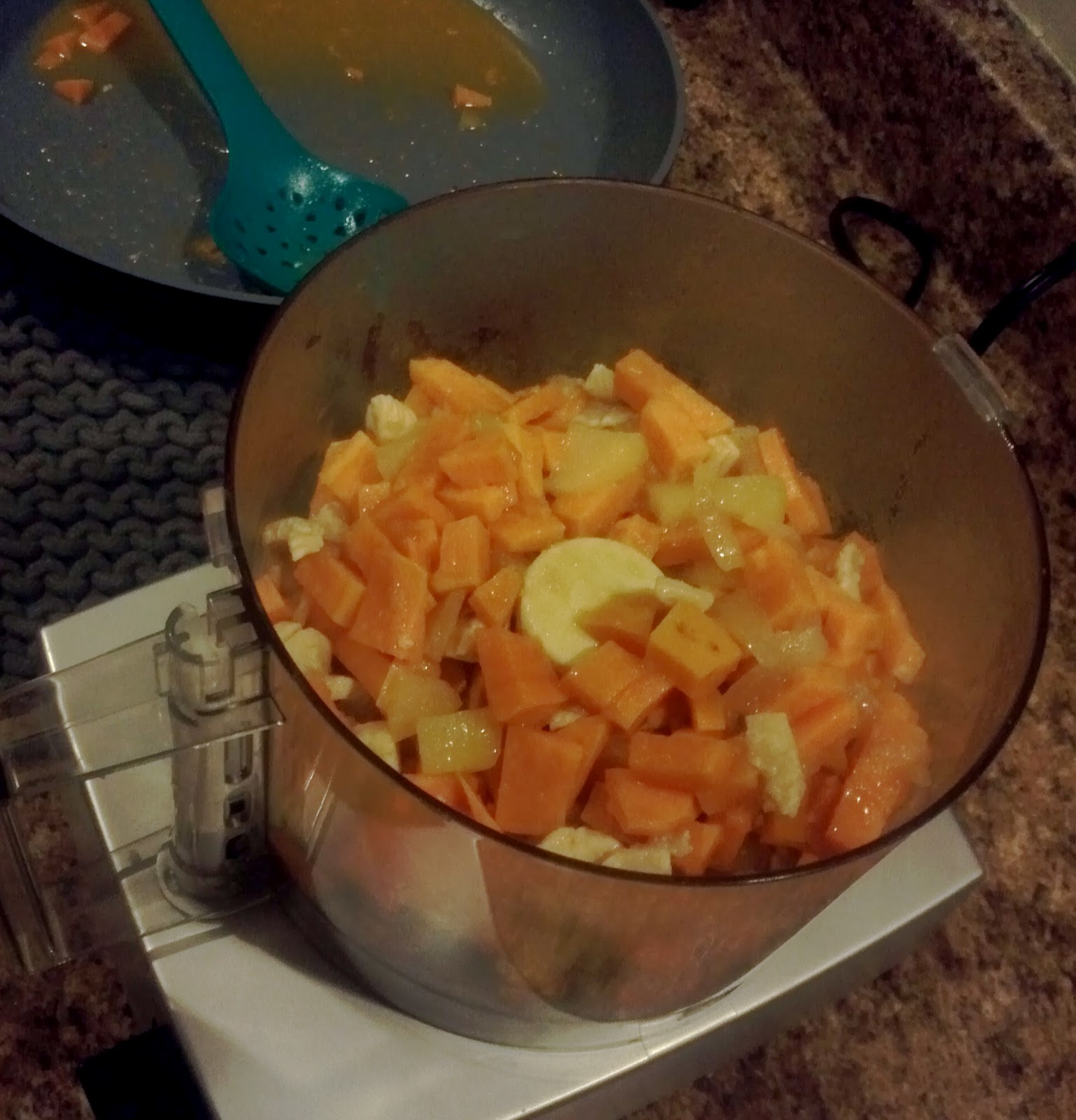 The johnstons home made baby food chicken with sweet potato apple puree to correct consistency forumfinder