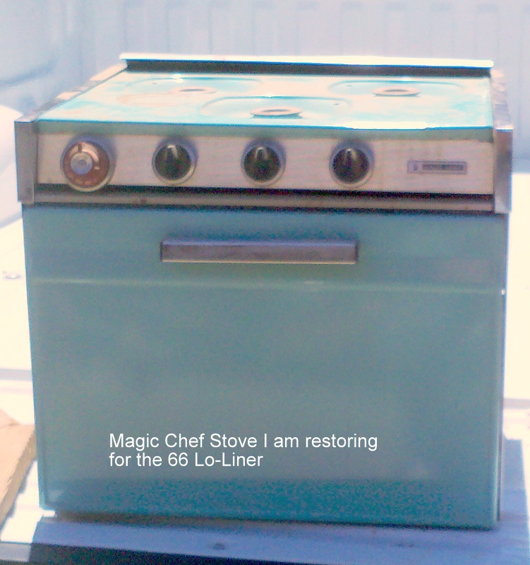 our aristocrat loliner restoration project began the restoration of the magic chef stove