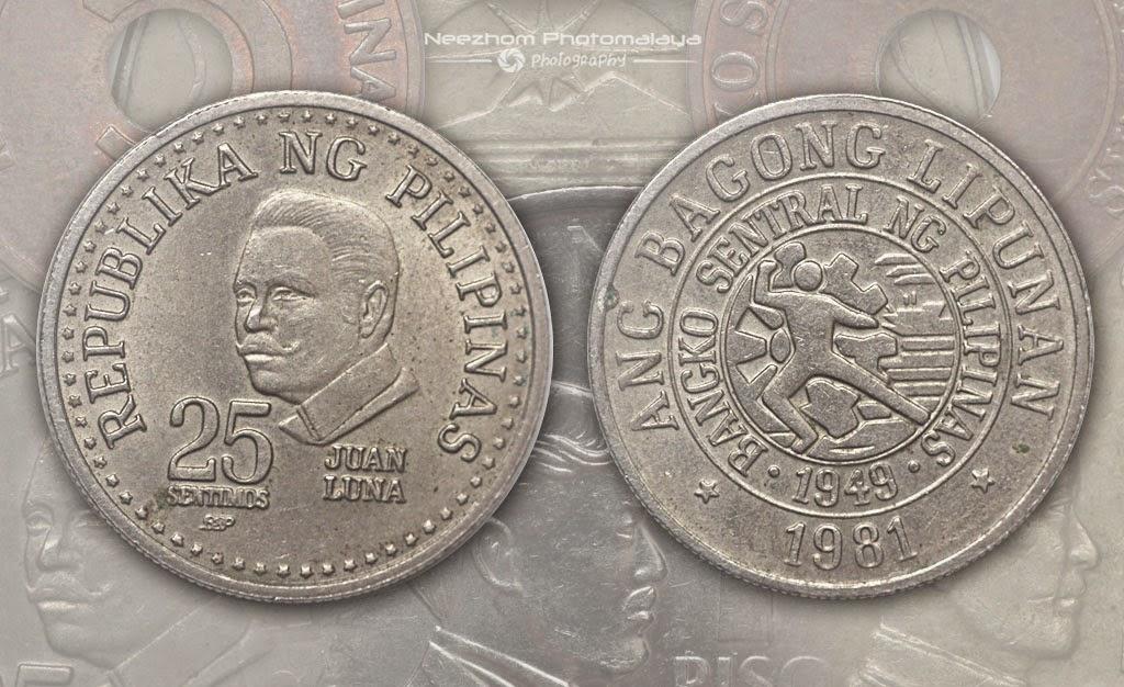 Philippine coin 25 Sentimos 1981