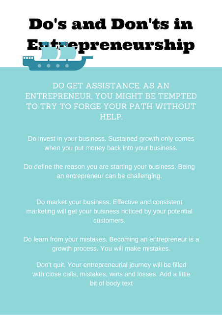 Dos and Donts of Entrepreneurship Infographic by Jonah Engler