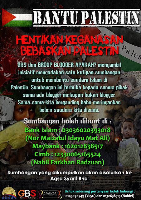 sumbangan untuk palestin