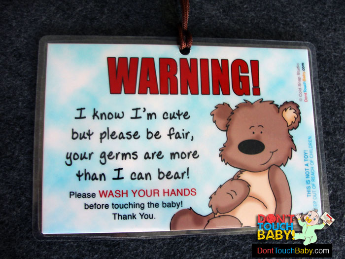 Why you should wash your hands touching baby
