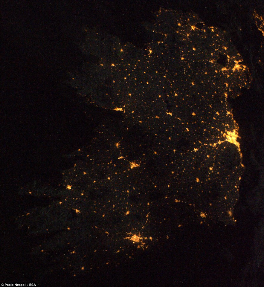 Ireland at night