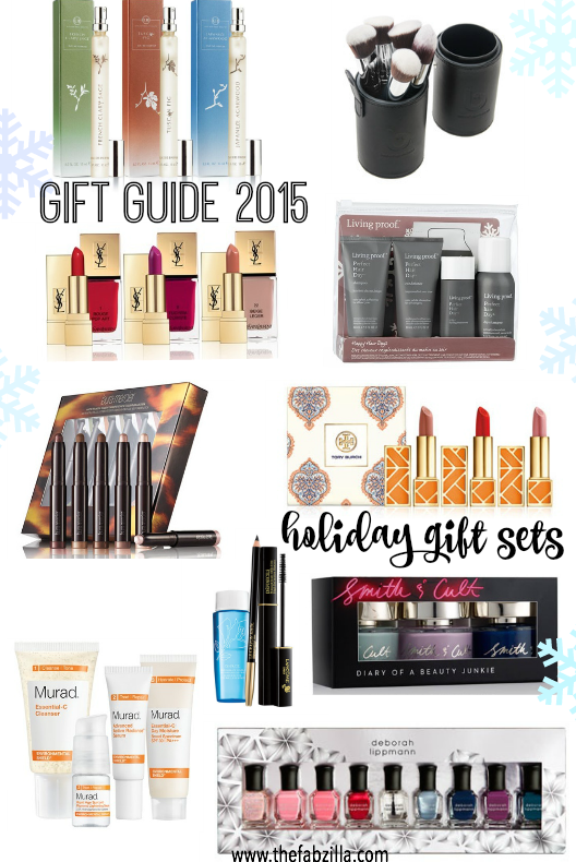 holiday gift guide, beauty sets, lisa hoffman, beauty junkers, yves saint laurent, tory burch, laura mercier, murad, deborah lippman, smith & cult, living proof, black friday, cyber monday deals.