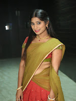 Midhuna in halfsaree at SARS movie audio-cover-photo