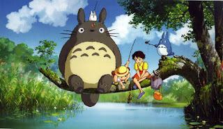 Totoro and the kids go fishing