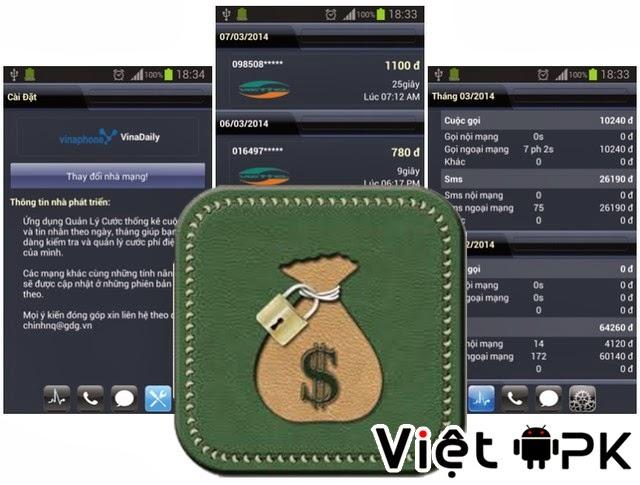 Ứng dụng Việt quản lý cước di động hữu ích cho Android
