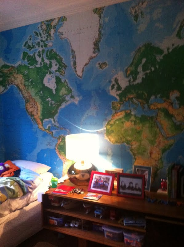 Lilyfield life world map mural walls so im a bit in love with a map feature wall i am toying up with using one in my sons bedroom when we renovate gumiabroncs Choice Image