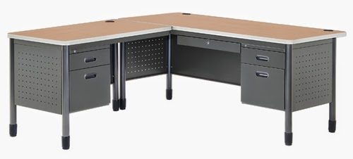 OFM Mesa Secretarial Desk with Left Return