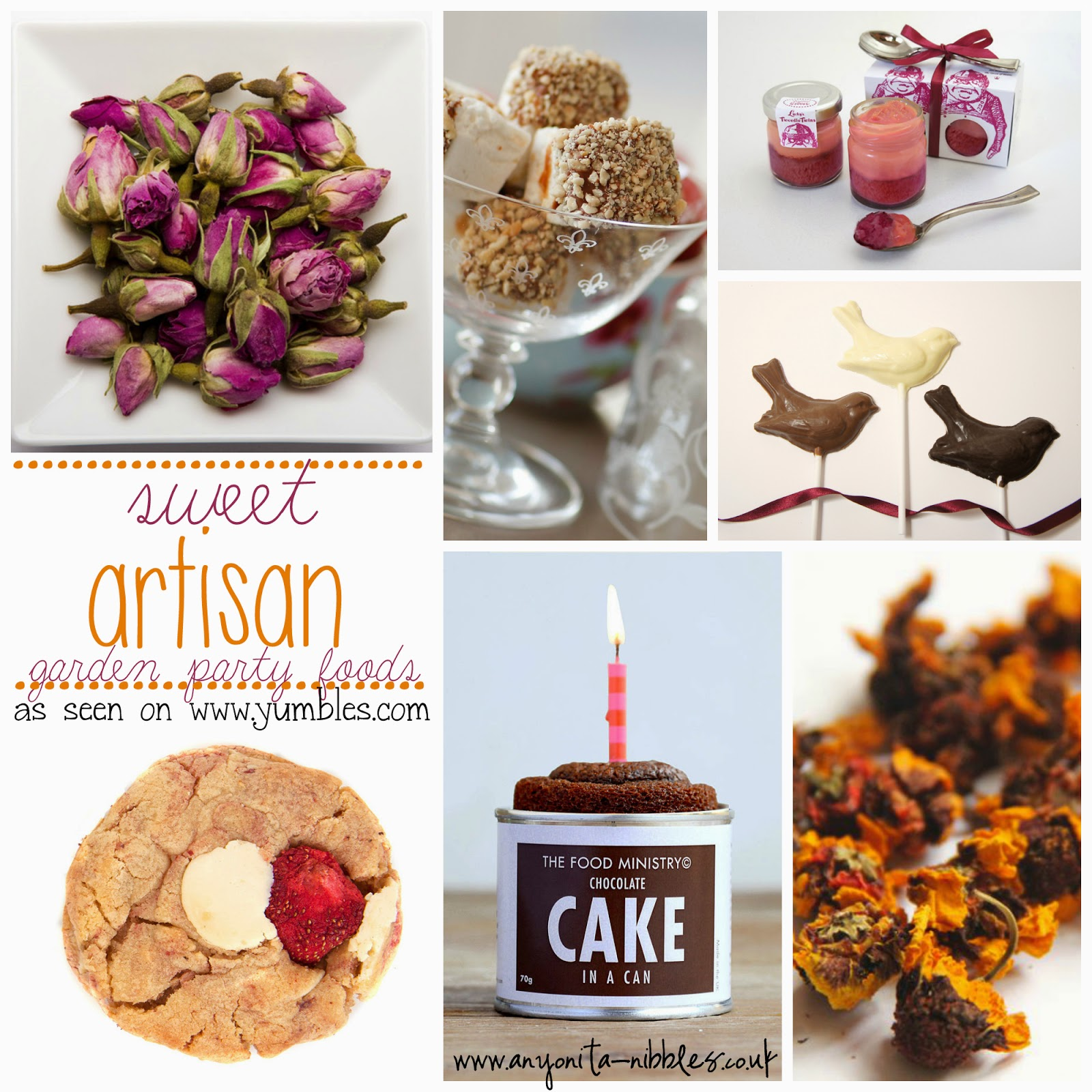 Sweet Artisan Foods for a Late Summer Garden Party by Anyonita Nibbles