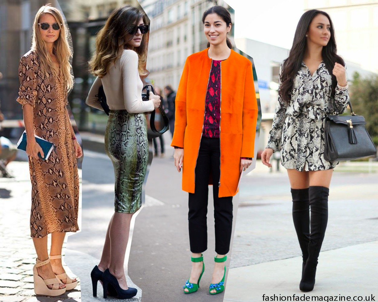 snake print trend outfit street style celebrity off-duty model fashion 2015 animal print