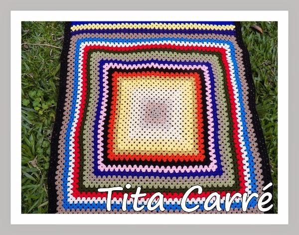 Colcha\Manta em squares retangular colorida