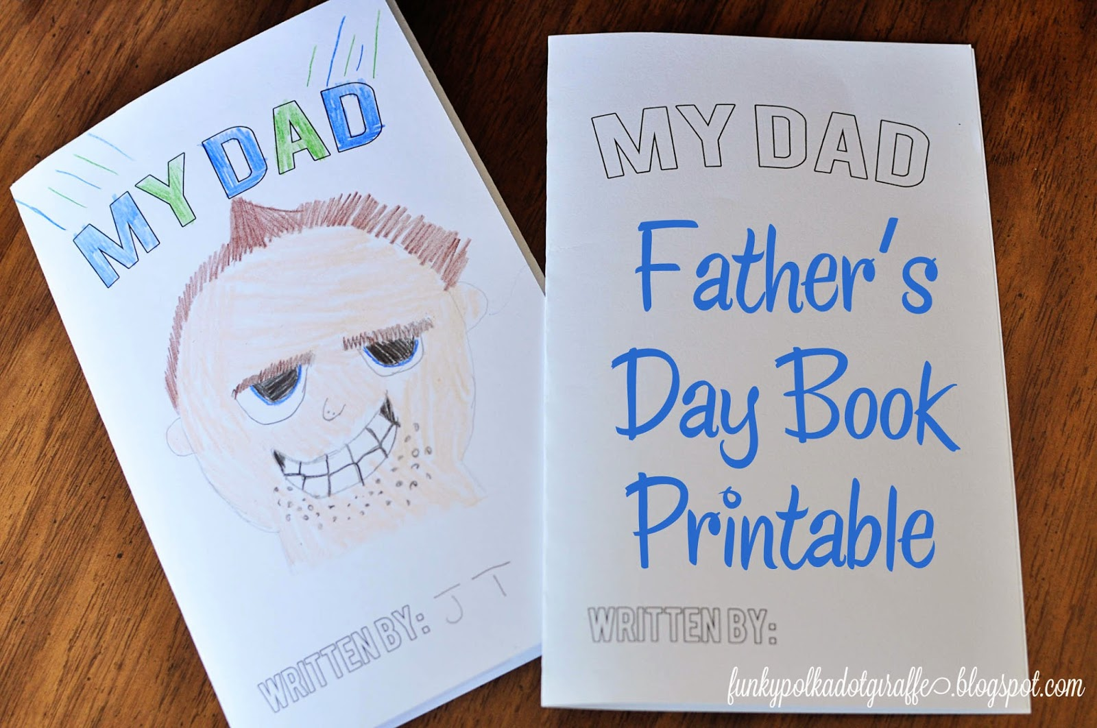 Funky Polkadot Giraffe Book Father S Day Gift And Printable