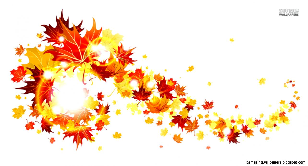Autumn Leaves Background Clipart